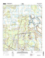 Harrietts Bluff Georgia Current topographic map, 1:24000 scale, 7.5 X 7.5 Minute, Year 2014 from Georgia Map Store