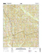 Harrison Georgia Current topographic map, 1:24000 scale, 7.5 X 7.5 Minute, Year 2014 from Georgia Map Store
