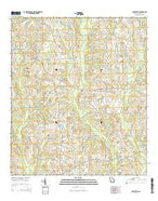 Hartsfield Georgia Current topographic map, 1:24000 scale, 7.5 X 7.5 Minute, Year 2014 from Georgia Map Store