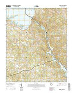 Hartwell Dam Georgia Current topographic map, 1:24000 scale, 7.5 X 7.5 Minute, Year 2014 from Georgia Map Store