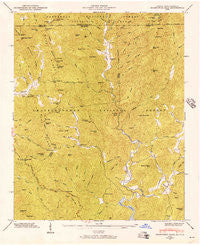 Hightower Bald Georgia Historical topographic map, 1:24000 scale, 7.5 X 7.5 Minute, Year 1946