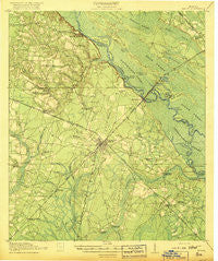 Jesup Georgia Historical topographic map, 1:62500 scale, 15 X 15 Minute, Year 1918