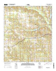 Lake Collins Georgia Current topographic map, 1:24000 scale, 7.5 X 7.5 Minute, Year 2014 from Georgia Maps Store