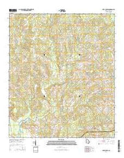 Lake Cypress Georgia Current topographic map, 1:24000 scale, 7.5 X 7.5 Minute, Year 2014 from Georgia Maps Store