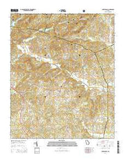 Lake Russell Georgia Current topographic map, 1:24000 scale, 7.5 X 7.5 Minute, Year 2014 from Georgia Maps Store
