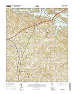 Lavonia Georgia Current topographic map, 1:24000 scale, 7.5 X 7.5 Minute, Year 2014 from Georgia Map Store