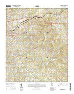 Lawrenceville Georgia Current topographic map, 1:24000 scale, 7.5 X 7.5 Minute, Year 2014 from Georgia Map Store