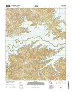 Leah Georgia Current topographic map, 1:24000 scale, 7.5 X 7.5 Minute, Year 2014 from Georgia Map Store