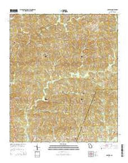 Logtown Georgia Current topographic map, 1:24000 scale, 7.5 X 7.5 Minute, Year 2014 from Georgia Maps Store