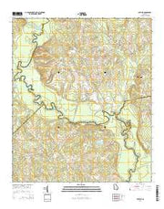 Lothair Georgia Current topographic map, 1:24000 scale, 7.5 X 7.5 Minute, Year 2014 from Georgia Maps Store