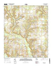 Louisville Georgia Current topographic map, 1:24000 scale, 7.5 X 7.5 Minute, Year 2014 from Georgia Maps Store