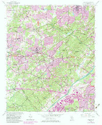 Mableton Georgia Historical topographic map, 1:24000 scale, 7.5 X 7.5 Minute, Year 1954