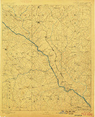 Mc Cormick South Carolina Historical topographic map, 1:125000 scale, 30 X 30 Minute, Year 1892