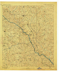Mc Cormick South Carolina Historical topographic map, 1:125000 scale, 30 X 30 Minute, Year 1912