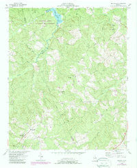 Metasville Georgia Historical topographic map, 1:24000 scale, 7.5 X 7.5 Minute, Year 1954