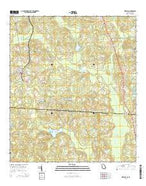 Metcalf Georgia Current topographic map, 1:24000 scale, 7.5 X 7.5 Minute, Year 2014 from Georgia Map Store
