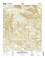 Methvins Georgia Current topographic map, 1:24000 scale, 7.5 X 7.5 Minute, Year 2014 from Georgia Map Store