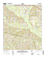 Metter SE Georgia Current topographic map, 1:24000 scale, 7.5 X 7.5 Minute, Year 2014 from Georgia Map Store