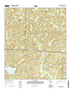 Miccosukee NE Georgia Current topographic map, 1:24000 scale, 7.5 X 7.5 Minute, Year 2014 from Georgia Map Store