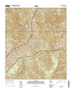 Midland Georgia Current topographic map, 1:24000 scale, 7.5 X 7.5 Minute, Year 2014 from Georgia Map Store