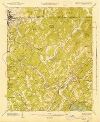 Mineral Bluff Georgia Historical topographic map, 1:24000 scale, 7.5 X 7.5 Minute, Year 1943