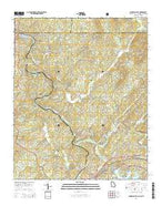 Mineral Bluff Georgia Current topographic map, 1:24000 scale, 7.5 X 7.5 Minute, Year 2014 from Georgia Map Store
