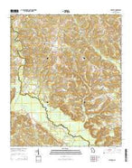 Mitchell Georgia Current topographic map, 1:24000 scale, 7.5 X 7.5 Minute, Year 2014 from Georgia Map Store
