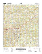 Monroe Georgia Current topographic map, 1:24000 scale, 7.5 X 7.5 Minute, Year 2014 from Georgia Map Store