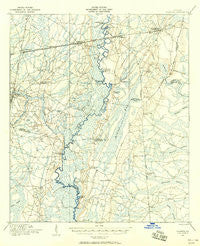 Nahunta Georgia Historical topographic map, 1:62500 scale, 15 X 15 Minute, Year 1917