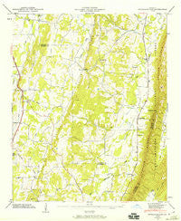 Nickajack Gap Georgia Historical topographic map, 1:24000 scale, 7.5 X 7.5 Minute, Year 1946