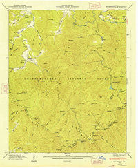 Noontootla Georgia Historical topographic map, 1:24000 scale, 7.5 X 7.5 Minute, Year 1947