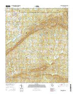 Pine Mountain Georgia Current topographic map, 1:24000 scale, 7.5 X 7.5 Minute, Year 2014 from Georgia Map Store