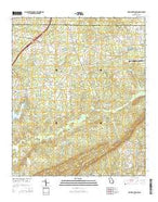 Pine Mountain SW Georgia Current topographic map, 1:24000 scale, 7.5 X 7.5 Minute, Year 2014 from Georgia Map Store