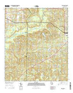 Pine Park Georgia Current topographic map, 1:24000 scale, 7.5 X 7.5 Minute, Year 2014 from Georgia Map Store