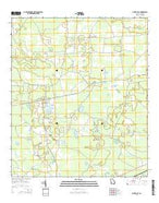 Pine Valley Georgia Current topographic map, 1:24000 scale, 7.5 X 7.5 Minute, Year 2014 from Georgia Map Store