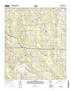 Pineboro Georgia Current topographic map, 1:24000 scale, 7.5 X 7.5 Minute, Year 2014 from Georgia Map Store
