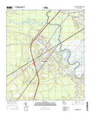Richmond Hill Georgia Current topographic map, 1:24000 scale, 7.5 X 7.5 Minute, Year 2014 from Georgia Maps Store