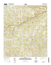 Riddleville Georgia Current topographic map, 1:24000 scale, 7.5 X 7.5 Minute, Year 2014 from Georgia Maps Store
