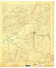 Rome Georgia Historical topographic map, 1:125000 scale, 30 X 30 Minute, Year 1886