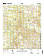 Sale City Georgia Current topographic map, 1:24000 scale, 7.5 X 7.5 Minute, Year 2014 from Georgia Map Store