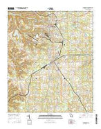 Sandersville Georgia Current topographic map, 1:24000 scale, 7.5 X 7.5 Minute, Year 2014 from Georgia Map Store