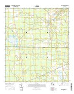 Sandy Bottom Georgia Current topographic map, 1:24000 scale, 7.5 X 7.5 Minute, Year 2014 from Georgia Map Store