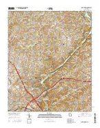 Sandy Springs Georgia Current topographic map, 1:24000 scale, 7.5 X 7.5 Minute, Year 2014 from Georgia Map Store
