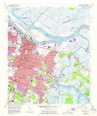 Savannah Georgia Historical topographic map, 1:24000 scale, 7.5 X 7.5 Minute, Year 1955