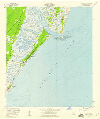 Sea Island Georgia Historical topographic map, 1:24000 scale, 7.5 X 7.5 Minute, Year 1955