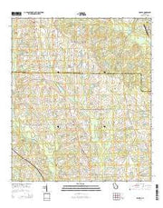 Sigsbee Georgia Current topographic map, 1:24000 scale, 7.5 X 7.5 Minute, Year 2014 from Georgia Maps Store