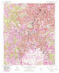 Southwest Atlanta Georgia Historical topographic map, 1:24000 scale, 7.5 X 7.5 Minute, Year 1954
