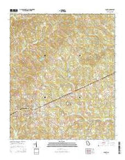 Sparta Georgia Current topographic map, 1:24000 scale, 7.5 X 7.5 Minute, Year 2014 from Georgia Maps Store
