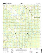 Spooner Georgia Current topographic map, 1:24000 scale, 7.5 X 7.5 Minute, Year 2014 from Georgia Maps Store