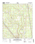 Springfield North Georgia Current topographic map, 1:24000 scale, 7.5 X 7.5 Minute, Year 2014 from Georgia Map Store